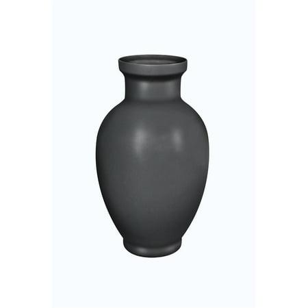 Black Ceramic Vase - Contemporary Style Decorative Ceramic Vase, Black