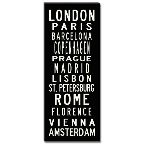 Uptown Artworks European Cities by Uptown Artworks Framed Textual Art on Wrapped Canvas