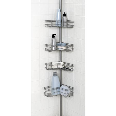 Tension Shower Caddy   Nickel. Tension Shower Caddy   Nickel   Walmart com