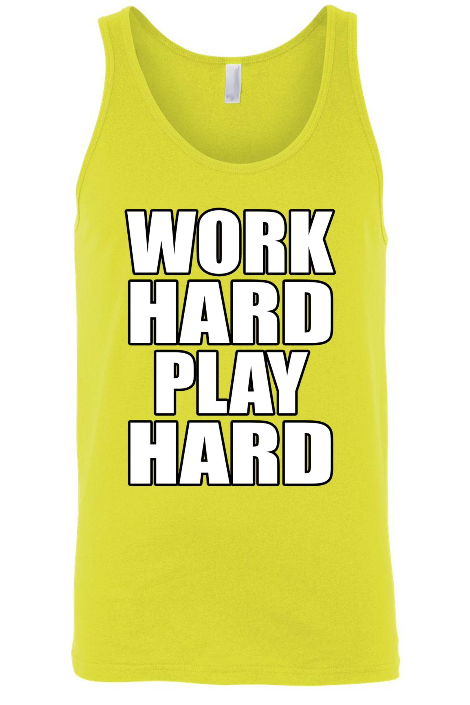 Men's Work Hard Play Hard Tank Top Shirt