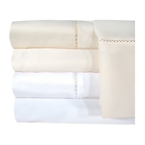 Grand Luxe Bellisimo Egyptian Cotton Sateen Deep Pocket 1200 Thread Count Sheet Set (Queen White Sheet Set)