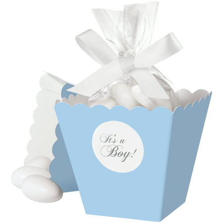 Wilton Blue Popcorn Boxes Favor Kit, 25-pack
