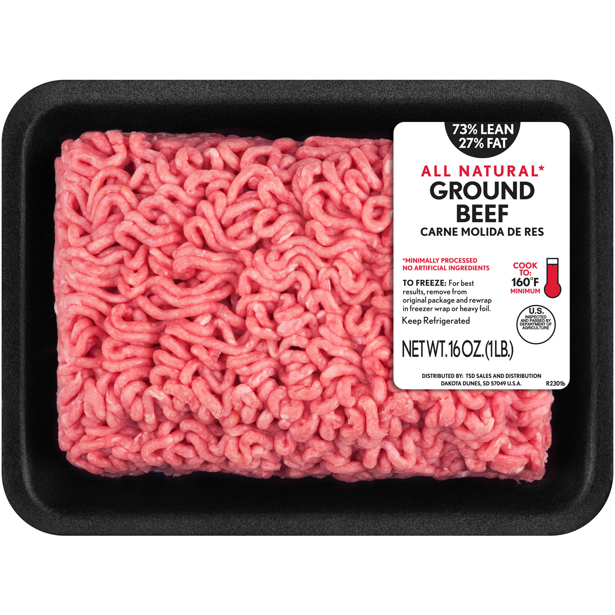 73% Lean/27% Fat Ground Beef, 1 lb