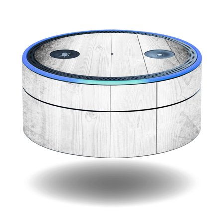 Skin Decal Wrap For Amazon Echo Dot  1St Generation  Cover Sticker White Wood