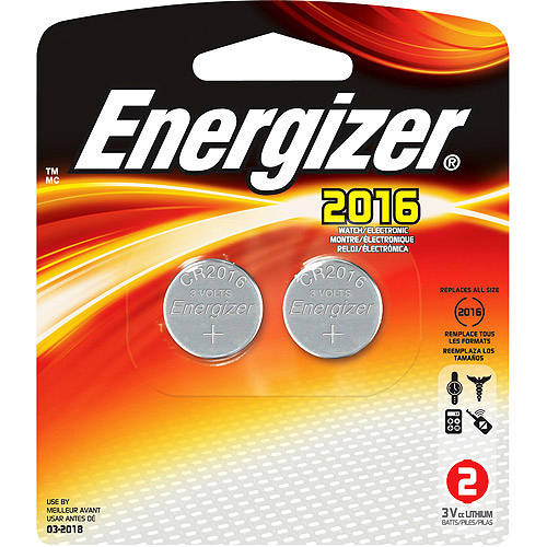 Energizer 2016 Coin Cell 2-Pack