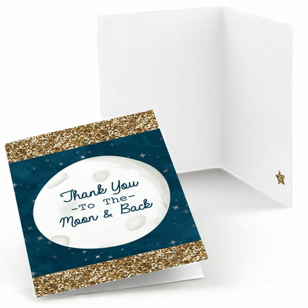 Twinkle Little Star - Baby Shower or Birthday Party Thank You Cards (8 count) - Twinkle Twinkle Little Star Birthday Invitations
