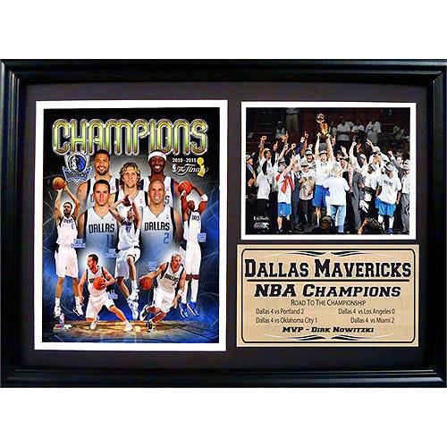 NBA Dallas Mavericks Champions Photo Stat Frame, 12x18