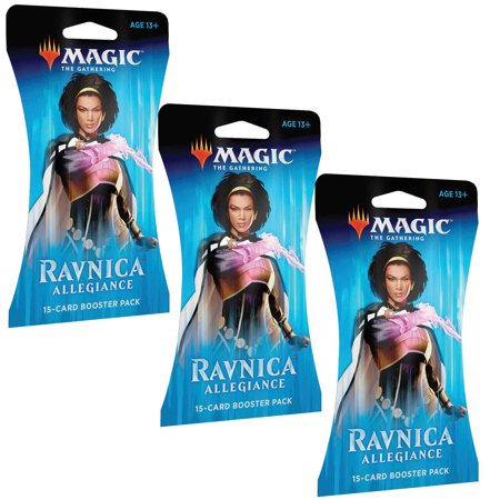 MAGIC THE GATHERING TCG: RAVNICA ALLEGIANCE 3 PACK BLISTER BUNDLE- 45 CARDS TOTAL
