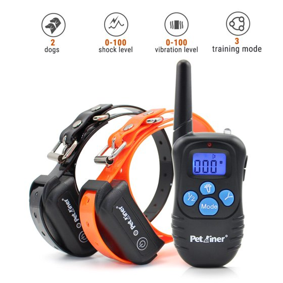 10be9fde77a0f Petrainer PET998DBB2 100% Waterproof Dog Shock Collar with Remote ...