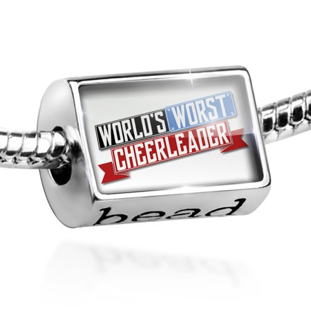 Bead Funny Worlds worst Cheerleader Charm Fits All European Bracelets (Funny Cheerleader)