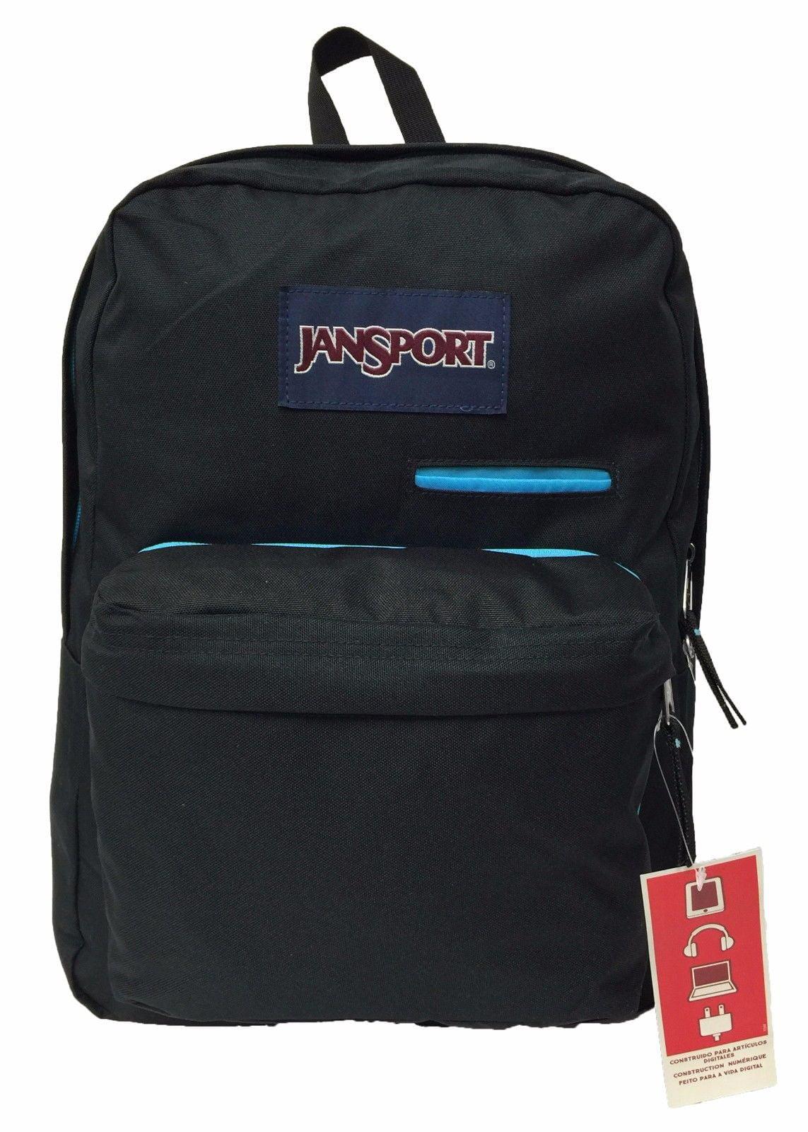 c56932239 JanSport - Digibreak Backpack - Black School Bag Adjustable School books  authentic - Walmart.com