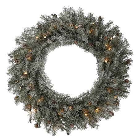 "30"" Frosted Pistol Pine Wreath 50CL"