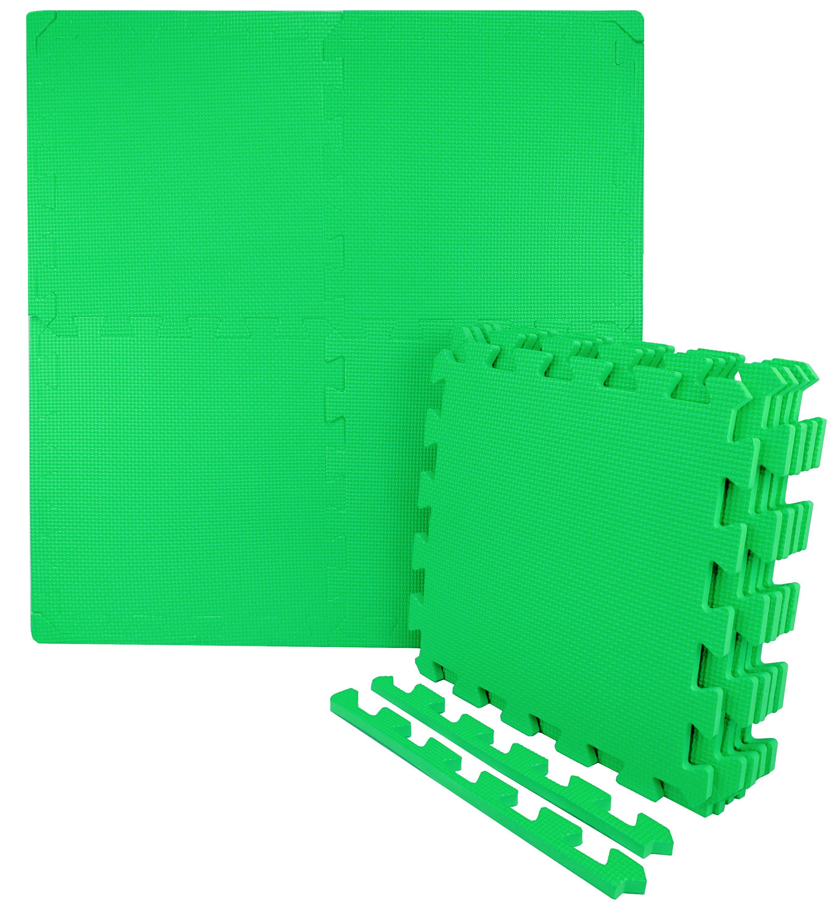 Wacces 12 x 12 inch Multi-Purpose Puzzle EVA Floor Interlocking Foam Exercise Mat Tiles - Multi-Color