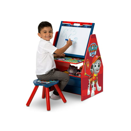 nick jr paw patrol activity center easel desk with stool toy