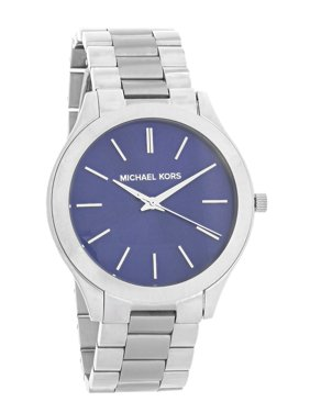 9b77000b1696 Product Image Runway Slim Ladies Blue Dial Stainless Steel Quartz Watch  MK3379. Michael Kors