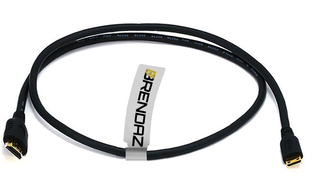 6 Ft Mini-HDMI to HDMI Cable for Canon EOS 6D 7D 60D 70D M SL1 T3i Rebel Camera