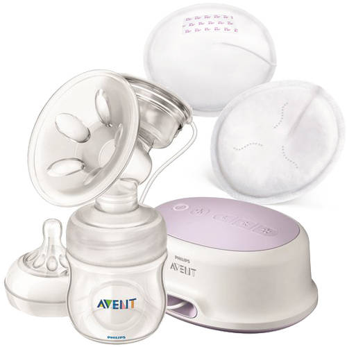 Philips Avent Single Electric Comfort Breast Pump with Bonus 30 Disposable Day Breast Pads