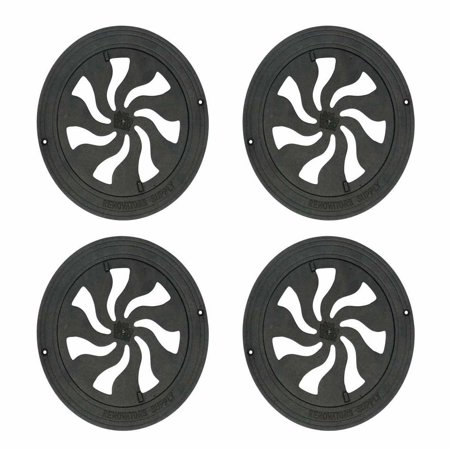 4 Round Heat Register Wall Floor Vent Grate Cast Aluminum 8