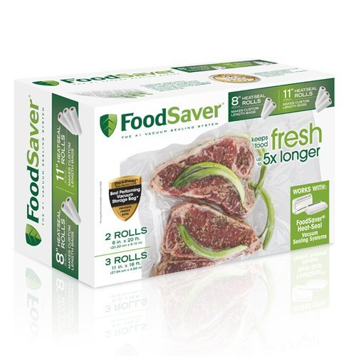 FoodSaver 8 & 11 Multi-pack Heat-seal Rolls