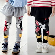 Canis 2-7Y Kids Baby Girls Cartoon Mickey Minnie Kiss Pants Leggings Kids Skirt Pants Trousers