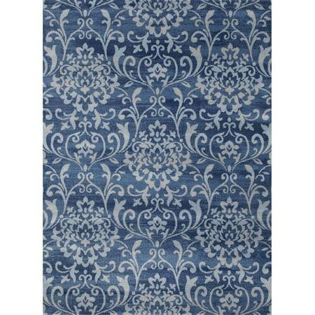 Persian Rugs Tobis Blue White Indoor Outdoor Area Rug Walmart Com