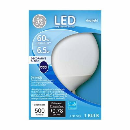 GE LED Daylight G25 Globe Bulb ()