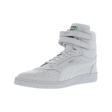 Puma Men's Sky Ii Hi White High Top Leather Basketball Shoe 9.5M