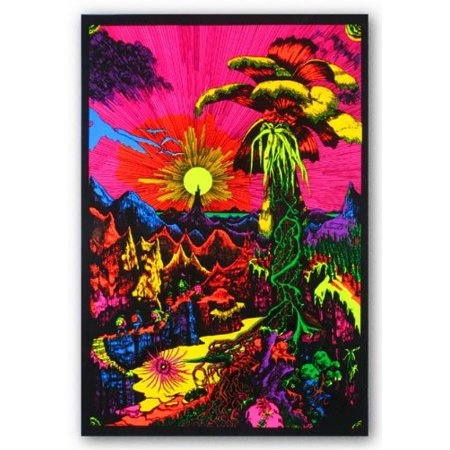 - (24x36) Lost Horizon (Landscape) Flocked Blacklight Poster Print..., By Poster Revolution Ship from US