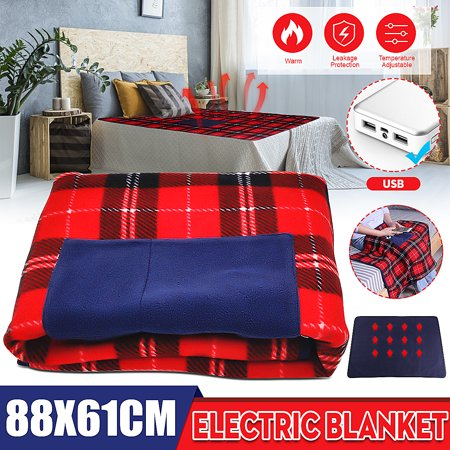 Electric Heated Blanket Comfort Warm Usb 5v Electric