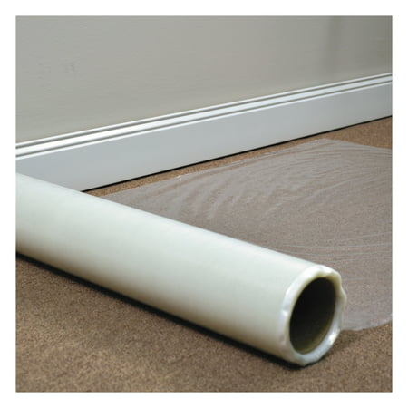 ES Robbins Roll Guard Temporary Floor Protection Film for Carpet, 24 x 2,400, Clear -ESR110021 ()