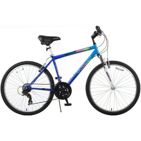 TITAN Trail 21-Speed Suspension Men's Mountain Bike with Front Shock, Blue