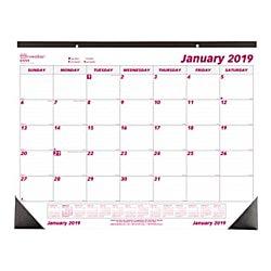 Brownline® Monthly Desk Pad Calendar, 22