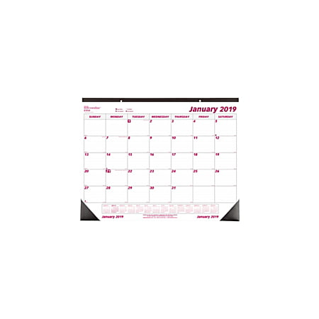 Brownline® Monthly Desk Pad Calendar, 22