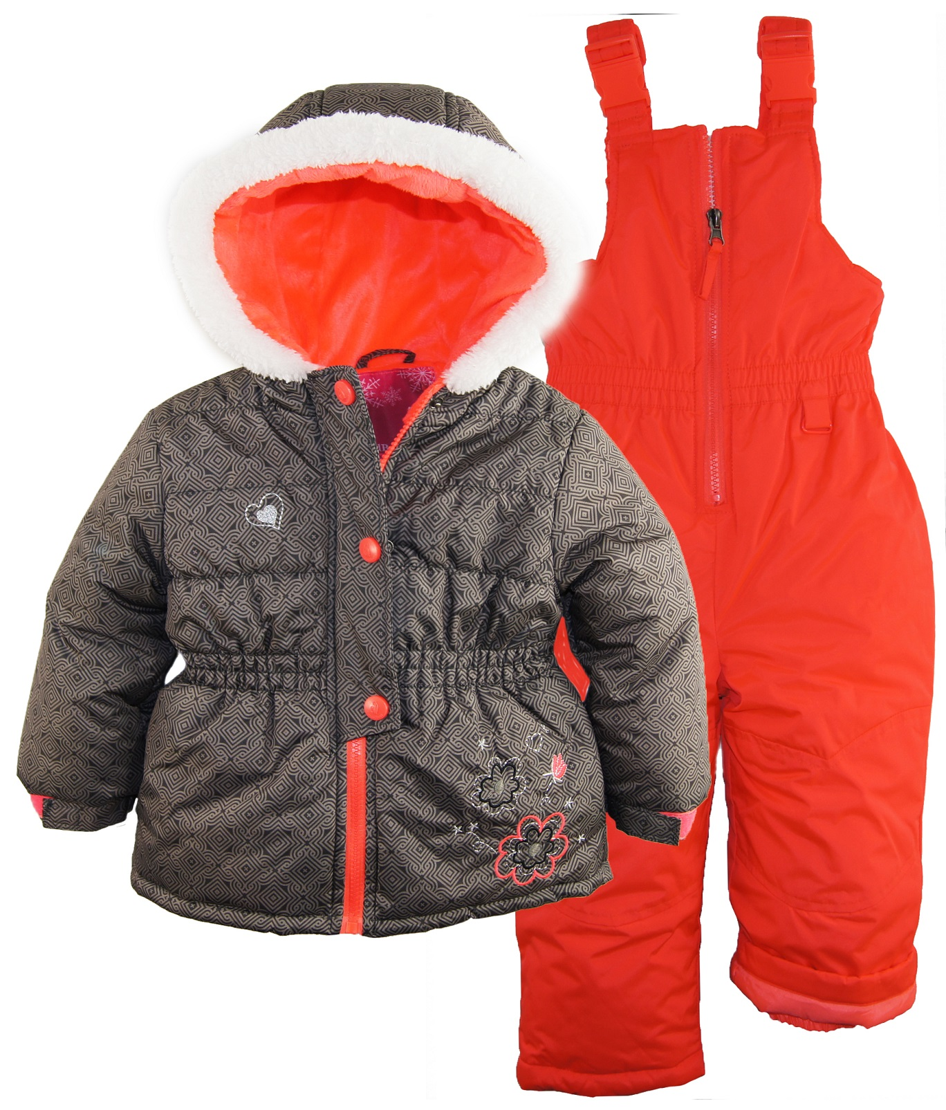 Rugged Bear Baby Girl Ski Jacket