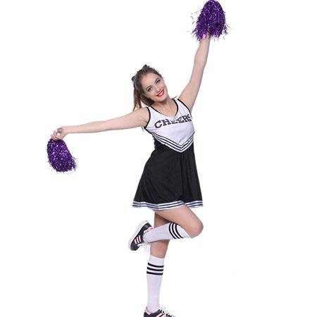 varsity college sports cheerleader uniform costume outfit blk l us 10 - College Costumes