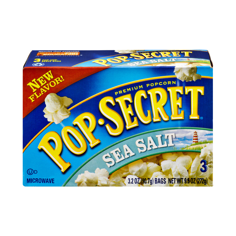 Pop-Secret Premium Popcorn Sea Salt Microwave Bags - 3 CT