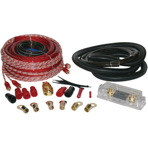 Soundquest SQK0 Copper-Clad Aluminum Amplifier Wiring Kit, 1/0 Gauge