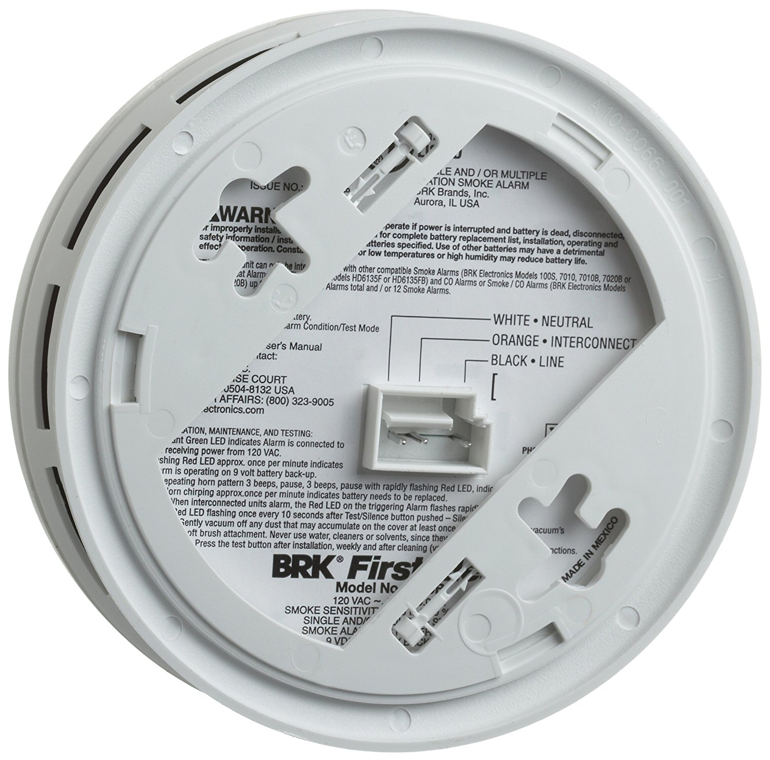 First Alert BRK SC7010BV Hardwired Talking Photoelectric Smoke and