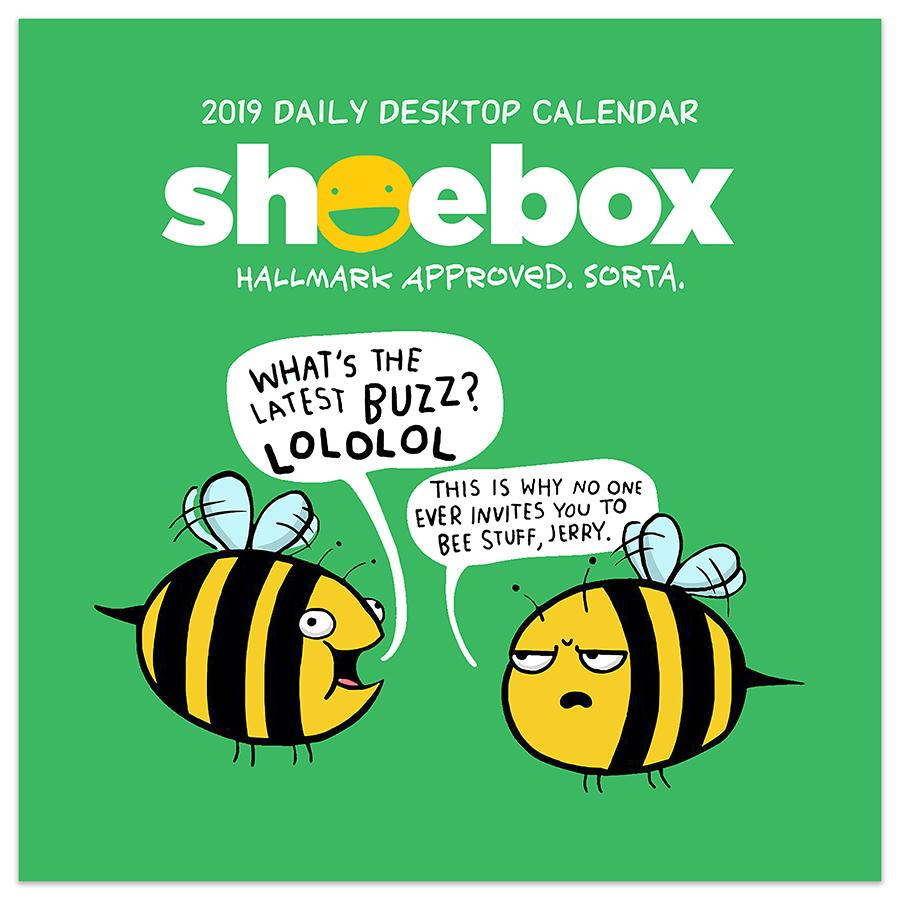 "2019 Shoebox 5.5"" x 5.5"" January 2019-December 2019 Daily Desktop Calendar by TF Publishing"