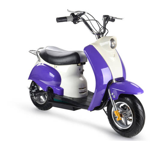 MotoTec 24V Electric Moped, Pink