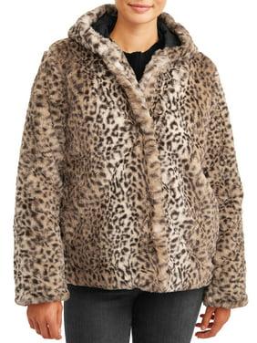 Pink Platinum Juniors' Faux Rabbit Fur Jacket