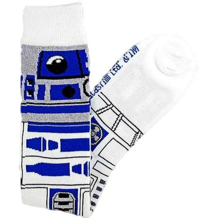 Star Wars R2 D2  R2d2  Junior Womens Knee High Socks Size 4 10