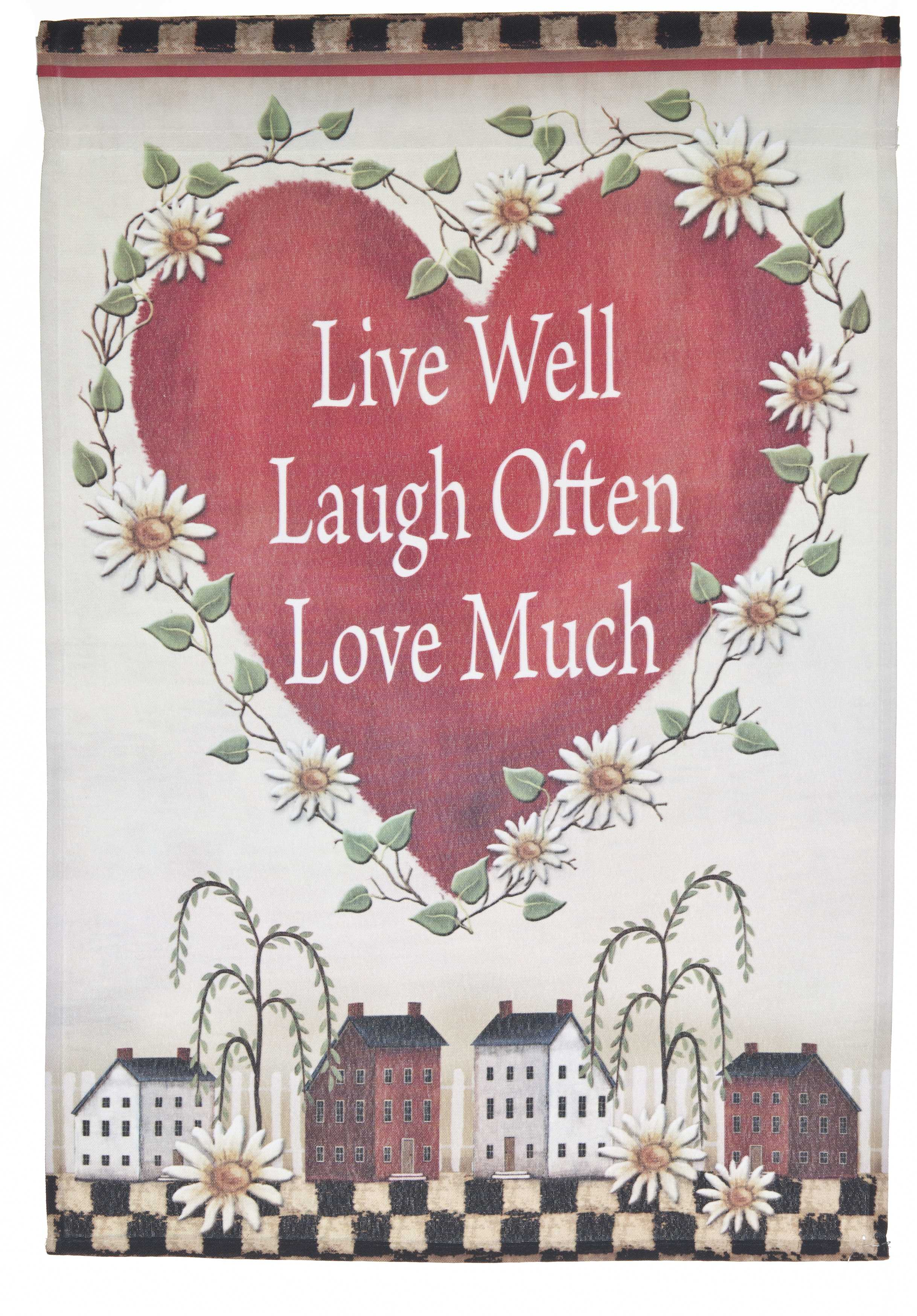 Live love Laugh Lawn Flag by Garden Accents (12 x 18 Inch) by