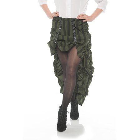 Steam Punk Womens Adult Victorian Cosplay Green Costume Skirt