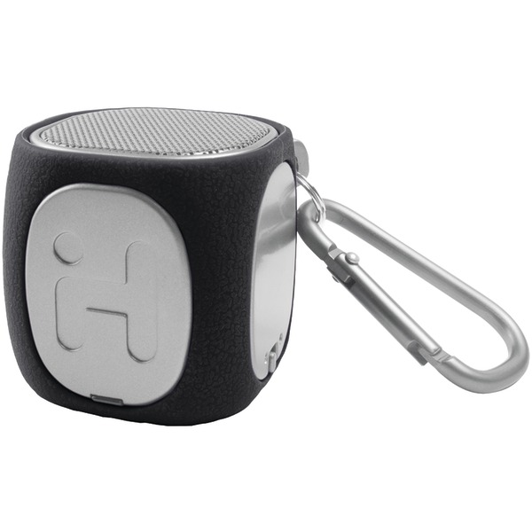iHome iBT55 Bluetooth Rechargable Mini Speaker with Carabiner, Black