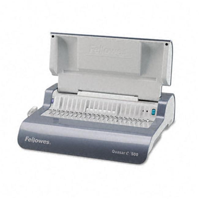 Quasar T500E Electric Comb Binding Machine 500-SHeets 17 x 15-3 8 x 5-1 8 GY by Dollar Days