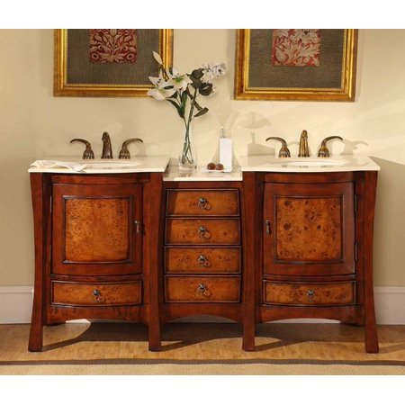 67 in. Vanessa Double Sink Bathroom Vanity in -