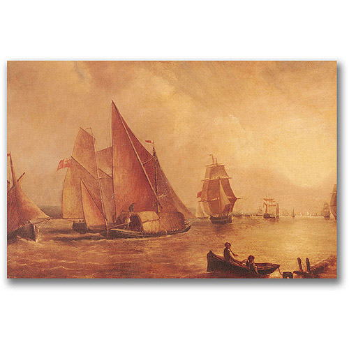 "Trademark Fine Art ""Estuary Of The Thames"" Canvas Wall Art by Joseph Turner"