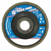Weiler 804-51121 Type 29 Tiger Paw Angled Flap Discs, 4. 5 inch, 80 Grit, 13,000 Rpm