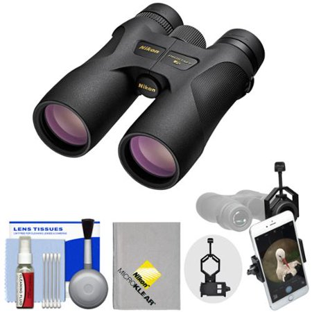 Nikon Prostaff 7S 8x42 ATB Waterproof / Fogproof Binoculars with Case + Smartphone Adapter + Cleaning